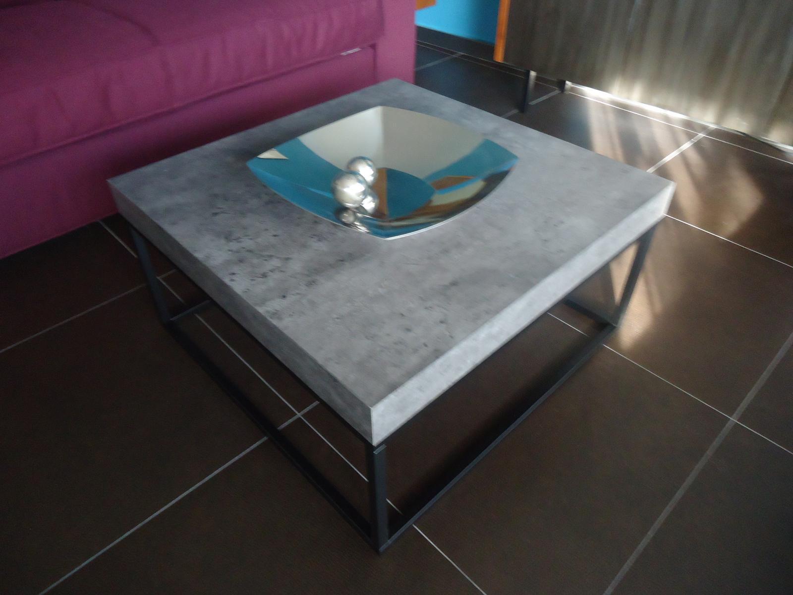 Konferenčný stolík v dekore betónu TemaHome  - Obrázok č. 1
