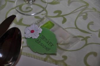 Jmenovky a dárečky pro hosty