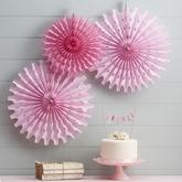 Rozety - Floral Fancy - Ružová -https://www.easywedding.sk/kolekcie/floral-fancy/rozety-ruzova-floral-fancy-3ks