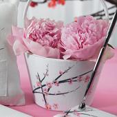 Svadobný košík na lupienky - Čerešňový kvet,