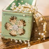 Dekoračná garlanda - Perly & Vintage,