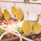 Papierová Girlanda - Zlaté trblietavé kruhy,