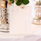 Akrylové Číslo na Stoly - Biely Štvorec,
