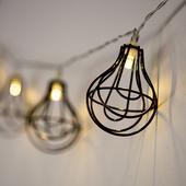 Reťaz Kovových Lampášov - LED svetlá,