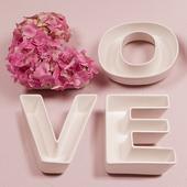 """Svadobné Taniere - """"Love"""" (4ks),"""