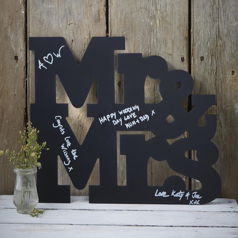 Písmena Mr & Mrs - Alternatívna Kniha Hostí   - Obrázok č. 1