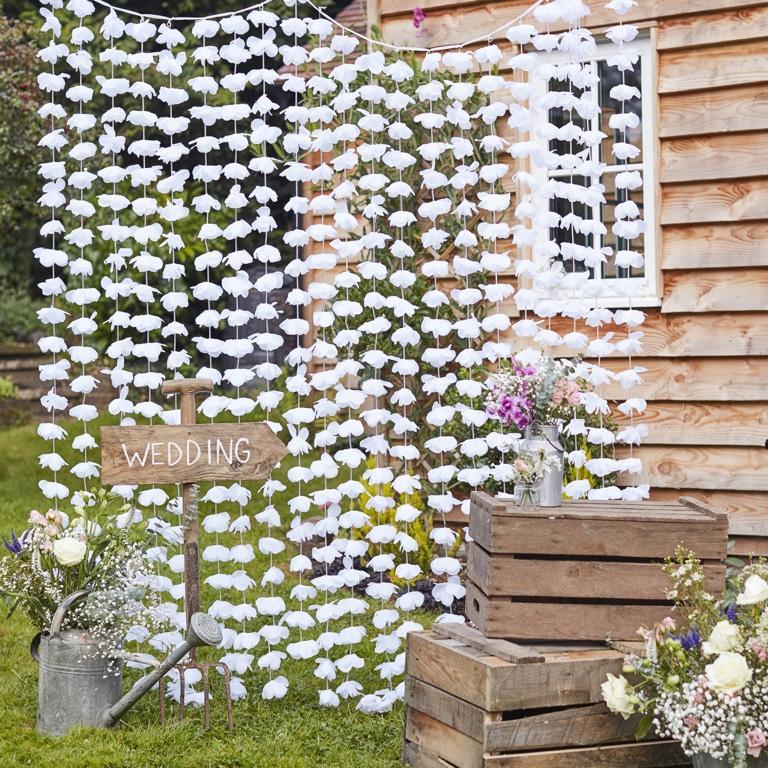 Kvetinová Stena - Biela (2m) - Obrázok č. 1