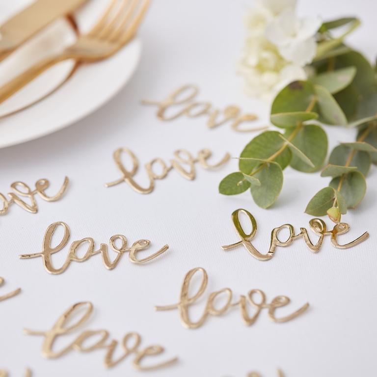 Konfety - Love - Zlatá (14g) - Obrázok č. 1