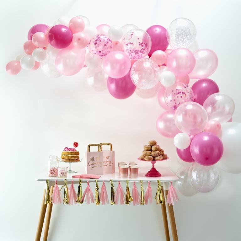 Balónová Brána - Ružová (70ks) - Obrázok č. 1