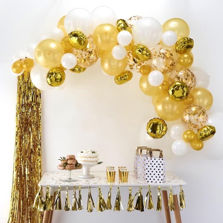 Balónová Brána - Zlatá (70ks) - Obrázok č. 1