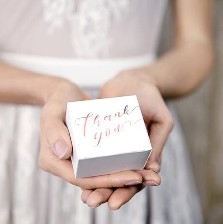 Krabička - Thank you - Ružovozlatá (10ks) - Obrázok č. 1