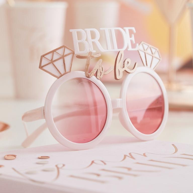 Slnečné Okuliare - Bride to Be - Púdrovoružová - Obrázok č. 1
