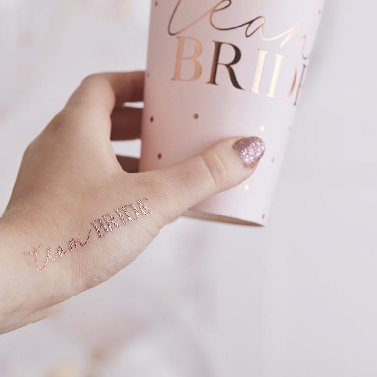 Tetovačky - Team Bride - Púdrovoružová (16ks) - Obrázok č. 1