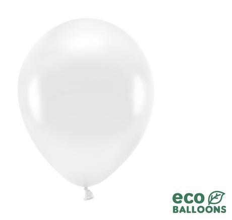Eko Balóny - Metalická Biela - 26 cm (20ks) - Obrázok č. 1