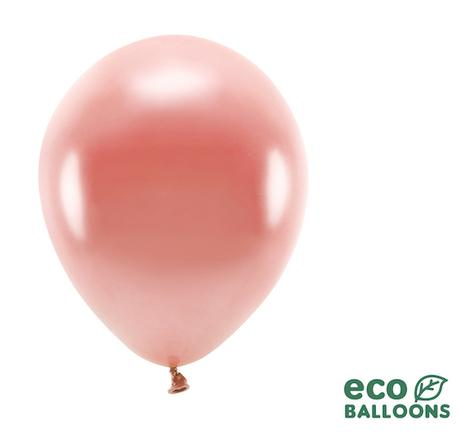 Eko Balóny - Metalická Ružovozlatá - 26 cm (10ks) - Obrázok č. 1