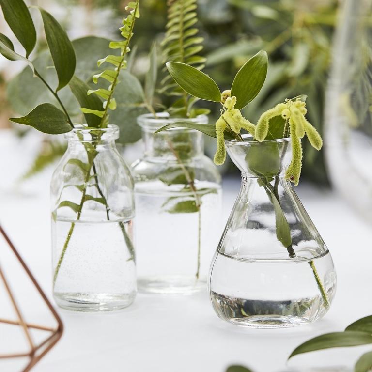 Mini Sklenené vázy (3ks) - Obrázok č. 1