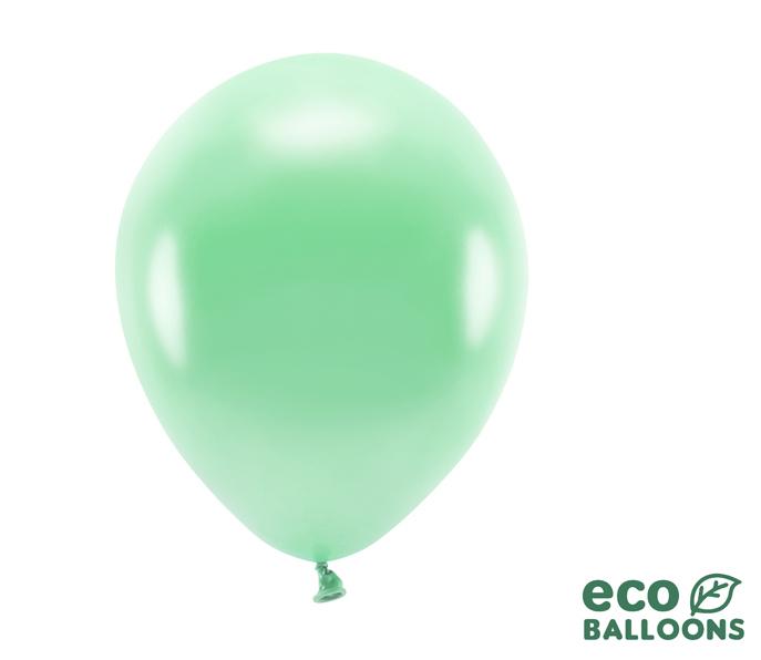 Eko Balóny - Metalická Zelená Mäta - 26 cm (20ks) - Obrázok č. 1