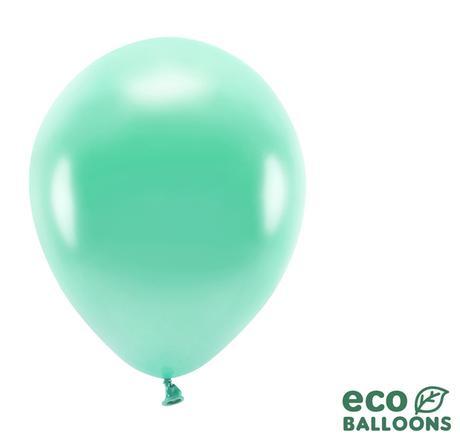 Eko Balóny - Metalická Tmavá Mäta - 26 cm (20ks) - Obrázok č. 1