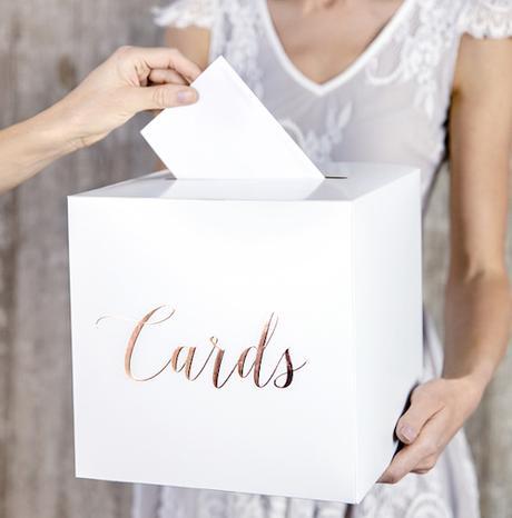 Svadobná Krabica na Venovania - Ružovo Zlatá - Obrázok č. 1
