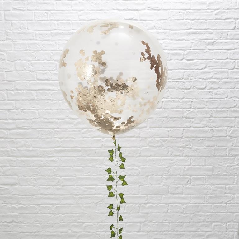 Konfetové Balóny - 90 cm - Ružovo Zlatá - Krásna Záhrada (3ks) - Obrázok č. 1