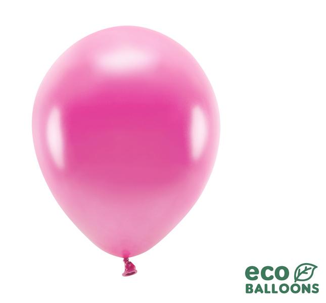 Eko Balóny - Metalická Fuksiová - 26 cm (20ks) - Obrázok č. 1