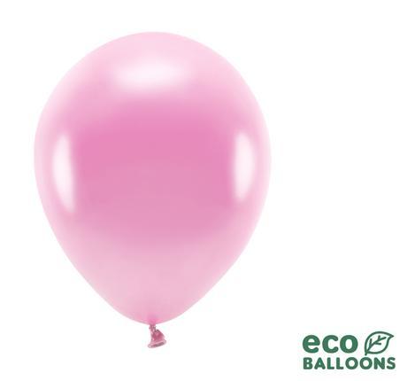 Eko Balóny - Metalická Ružová - 26 cm (20ks) - Obrázok č. 1