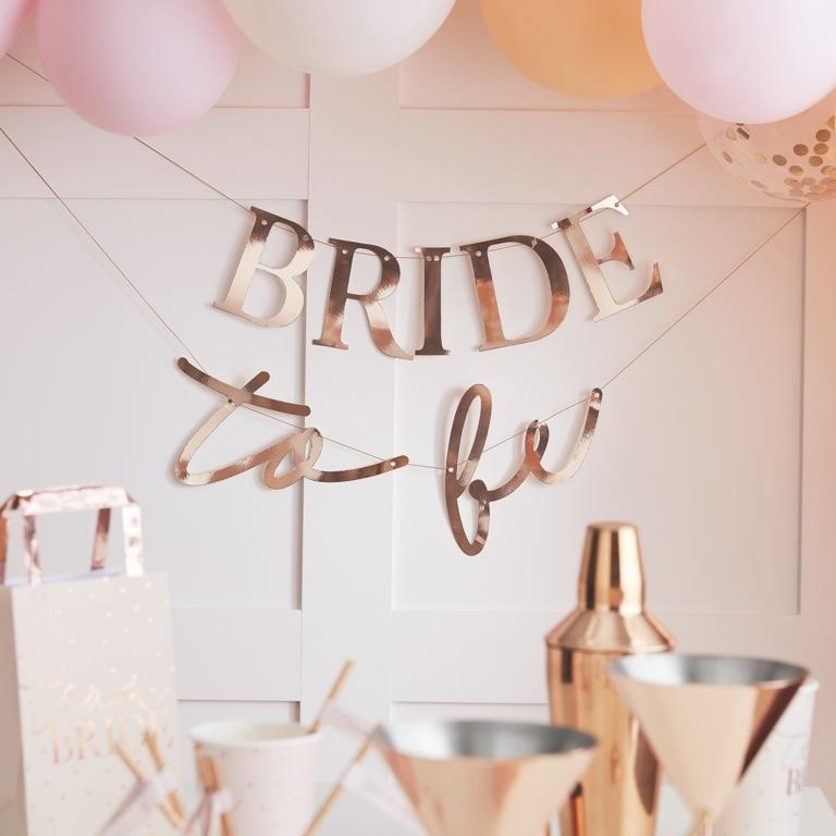 Girlanda - Bride To Be - Ružovozlatá - Obrázok č. 1