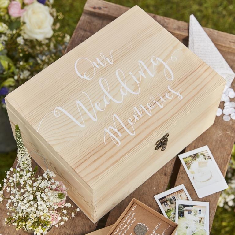 Drevená Krabica na Spomienky - Rustic Country - Obrázok č. 1