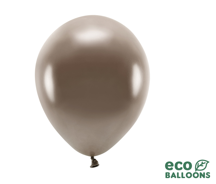Eko Balóny - Metalická Hnedá - 26 cm (20ks) - Obrázok č. 1