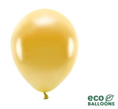 Eko Balóny - Metalická Zlatá - 26 cm (20ks) - Obrázok č. 1