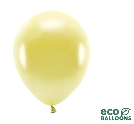 Eko Balóny - Metalická Svetlozlatá - 26 cm (20ks) - Obrázok č. 1