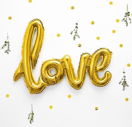 Foliový Balón - Love - Zlatá - Obrázok č. 1