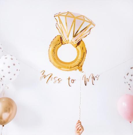 Fóliový balón - Prsteň - Ružová - Obrázok č. 1