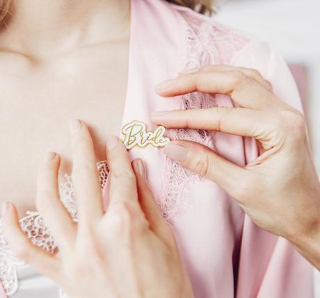 Pripínačka - Bride - Zlatá - Obrázok č. 1
