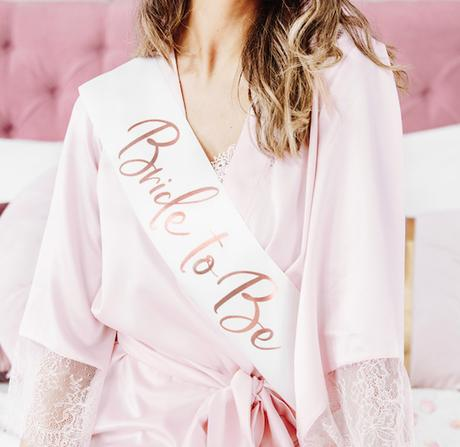 Šerpa 'Bride to Be' - Ružovozlatá - Obrázok č. 1
