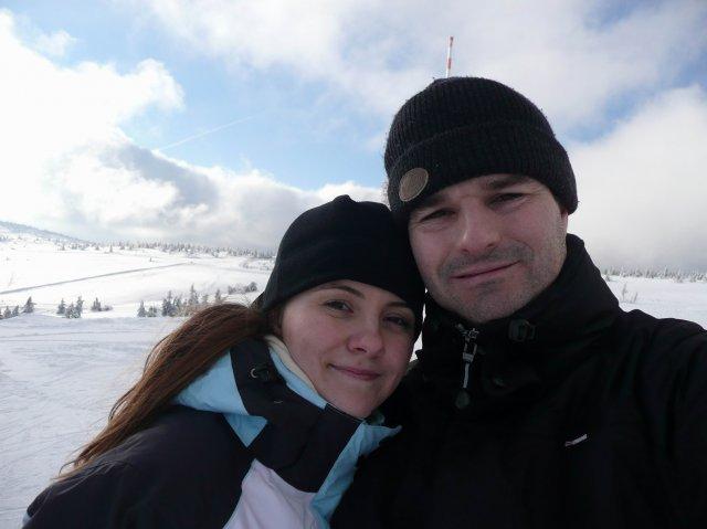 Moje sny - tak tu sme my na lyžovačke a ja môj snubenec, vten večer ma požiadal o ruku (konečne :o)) 25.1.2009