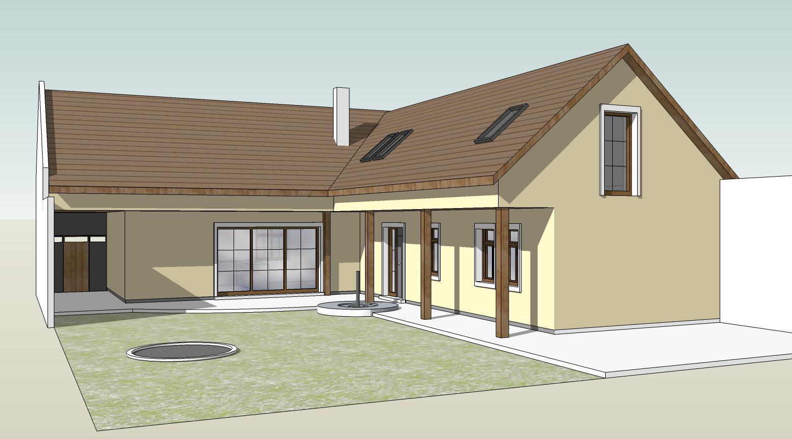 Náš budúci domov - rekonštrukcia rodinného domu - Vizualizácia - fáza 1