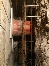 Ďalšia chránička pre kanalizáciu a vodu, pre istotu som pridal pre vodu ešte jednu samostatnú chráničku nižšie.
