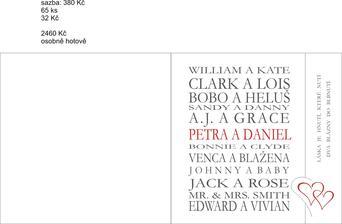 Máme - už se tiskne :-) jména slavných párů jsme sestavily sami :-)