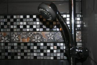 detail mozaika, listela ruzica