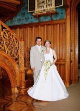 fotka u schodů z jednoho kusu dřeva nemohla chybět...nádhera