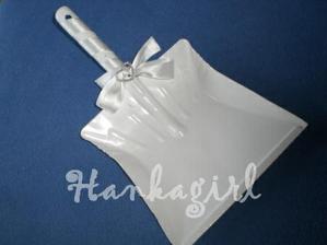 Lopatka na zametanie crepin (kovova lopatka, stuha, strasova bros)