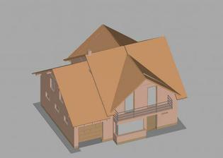 3D model nášho domu - od cesty