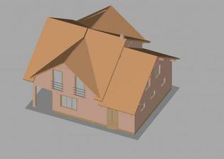 3D model nášho domu - zo zadu