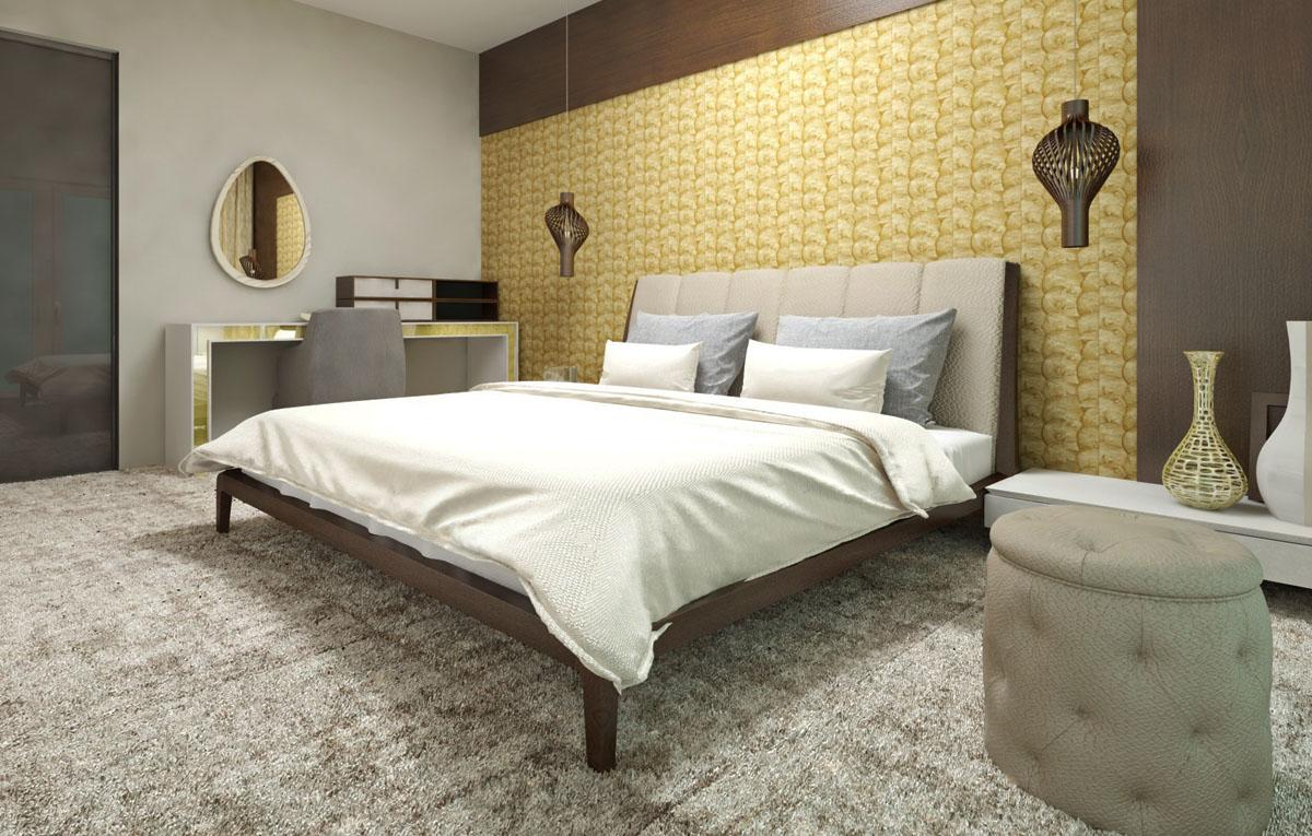 Moderný interiér bytu, návrh a zariadenie Malé Krasňany - Moderný interiér bytu- návrh, dizajn a zariadenie spálne.  Interiérový dizajn, výroba nábytku na mieru zo štúdia PRUNUS.