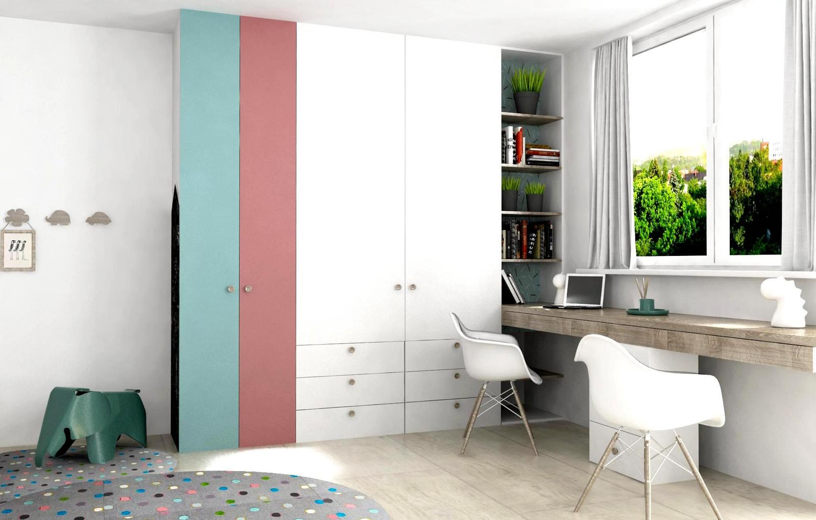 Moderný interiér bytu, návrh a zariadenie Malé Krasňany - Moderný interiér bytu- návrh, dizajn a zariadenie detskej izby.  Interiérový dizajn, výroba nábytku na mieru zo štúdia PRUNUS.