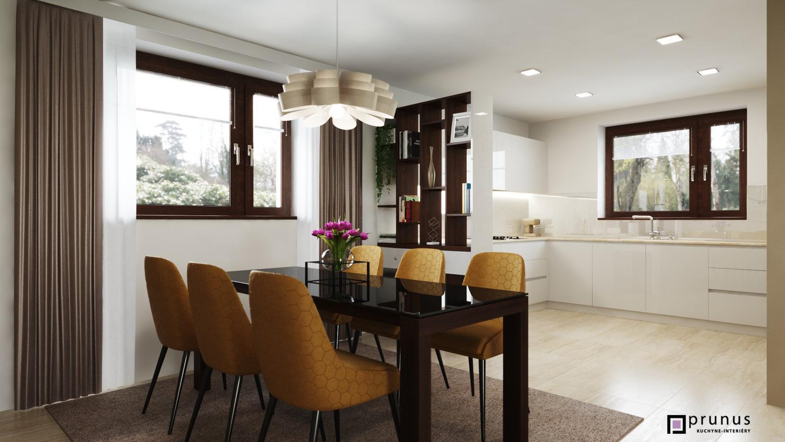 Návrh zariadenia interiéru luxusnej kuchyne - PRUNUS interiérové studio - návrh zariadenia interiéru luxusnej kuchyne