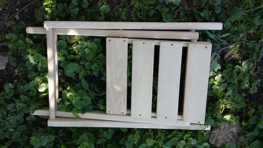 Skladacia drevená stolička - Obrázok č. 1