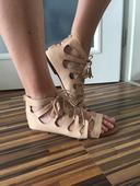 Kožené sandály ve stylu boho Zara, 39