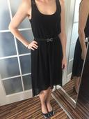 Šifonové šaty s krajkou na zádech, 38